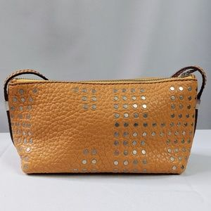 Carolina Herrera Studded Orange Small Bag Purse